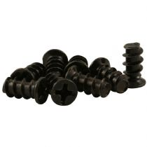Pack of 8 Black Computer PC Case Fan Mounting Screws - 10mm Length